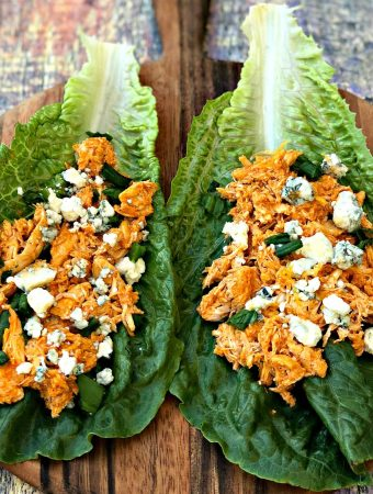 Instant Pot Keto Low-Carb Cheesy Buffalo Chicken Lettuce Wraps