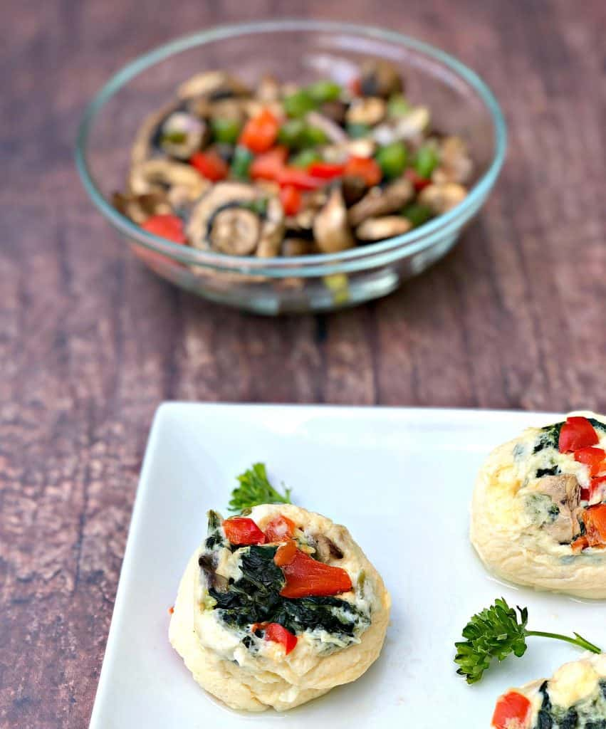 Keto Low-Carb Egg White Omelet Vegetable Bites
