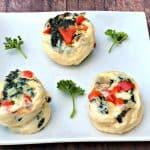 Keto Low-Carb Egg White Omelet Vegetable Bites
