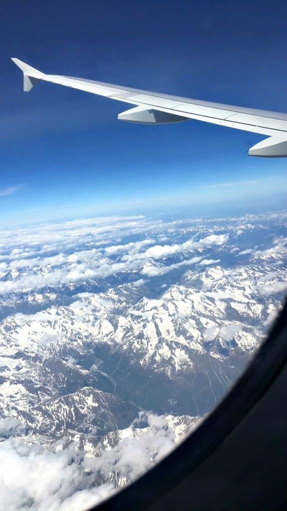 airplane views of the alps
