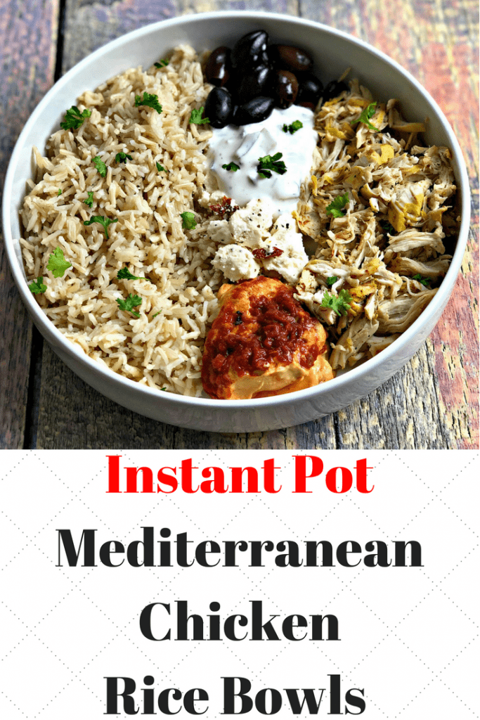 instant pot chicken and rice bowls