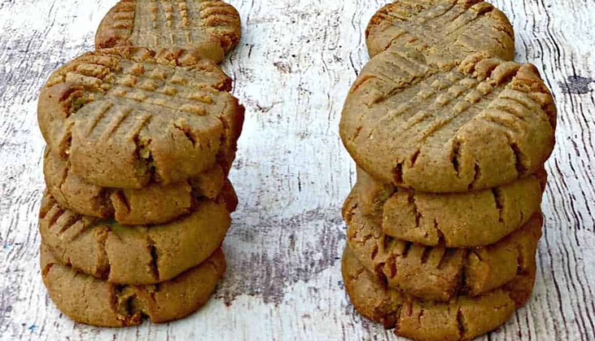keto peanut butter cookies on a flat surface