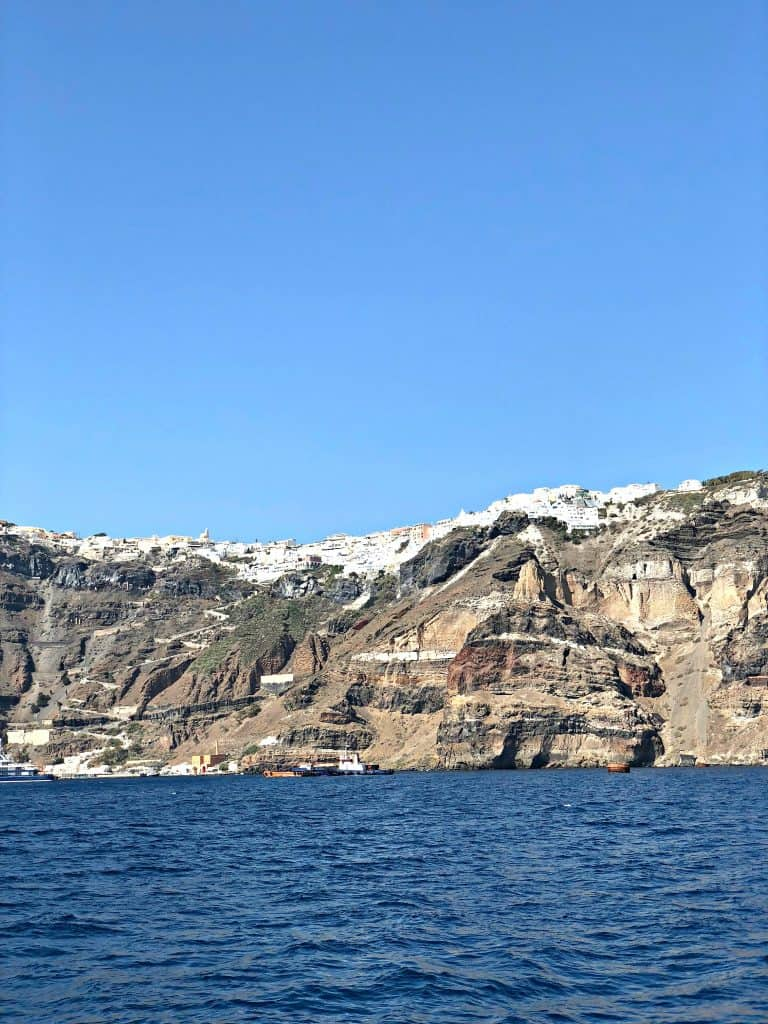santorini greece and the sea