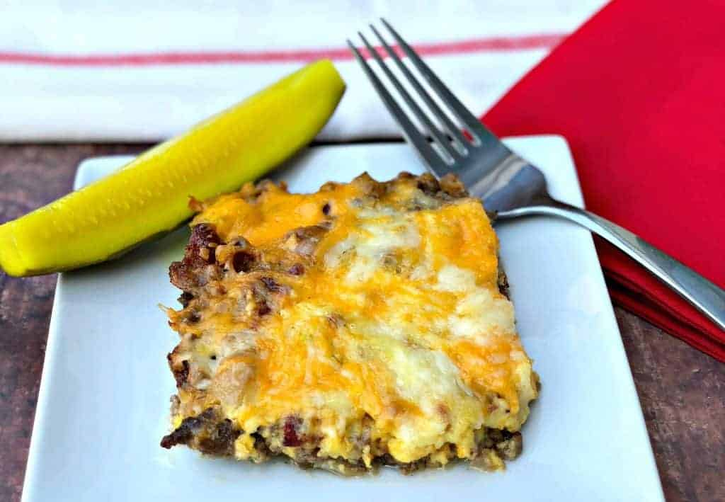 Easy Keto Low,Carb Bacon Cheeseburger Casserole with {VIDEO}