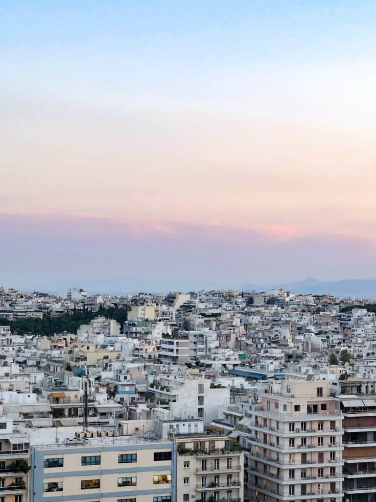view of athens from rooftop