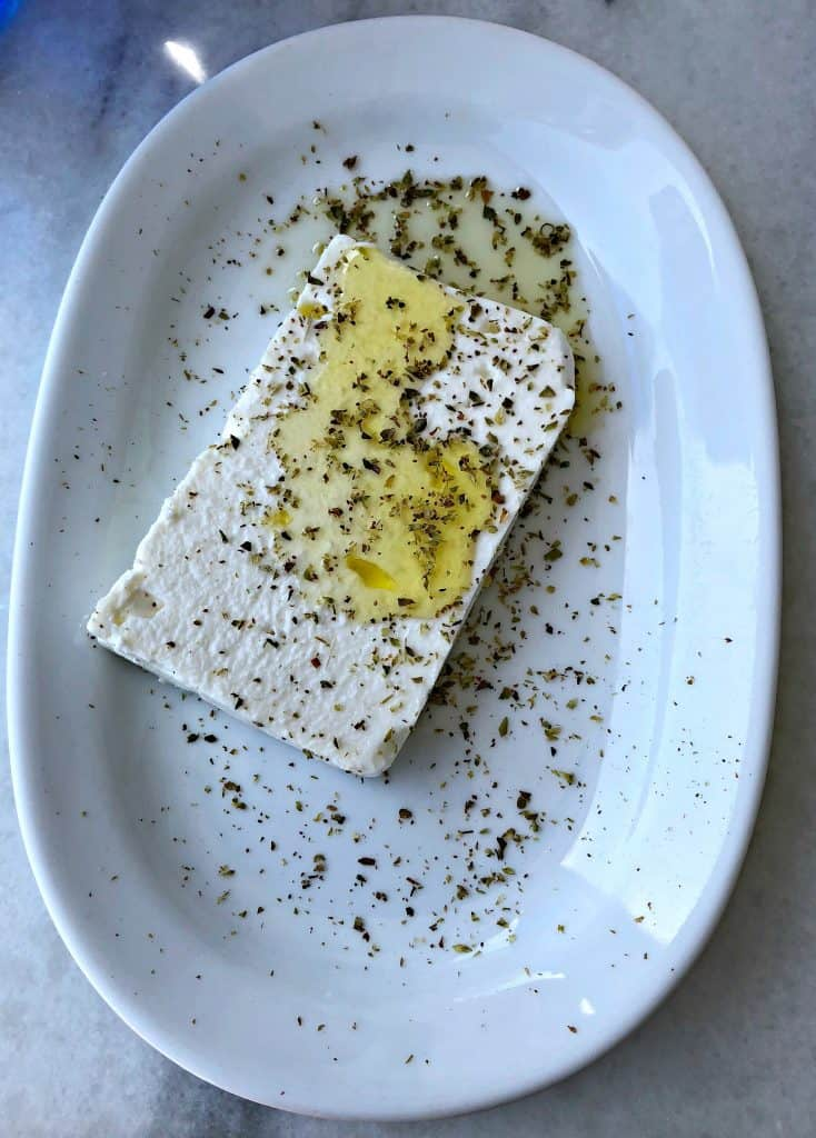 feta cheese with olive oil