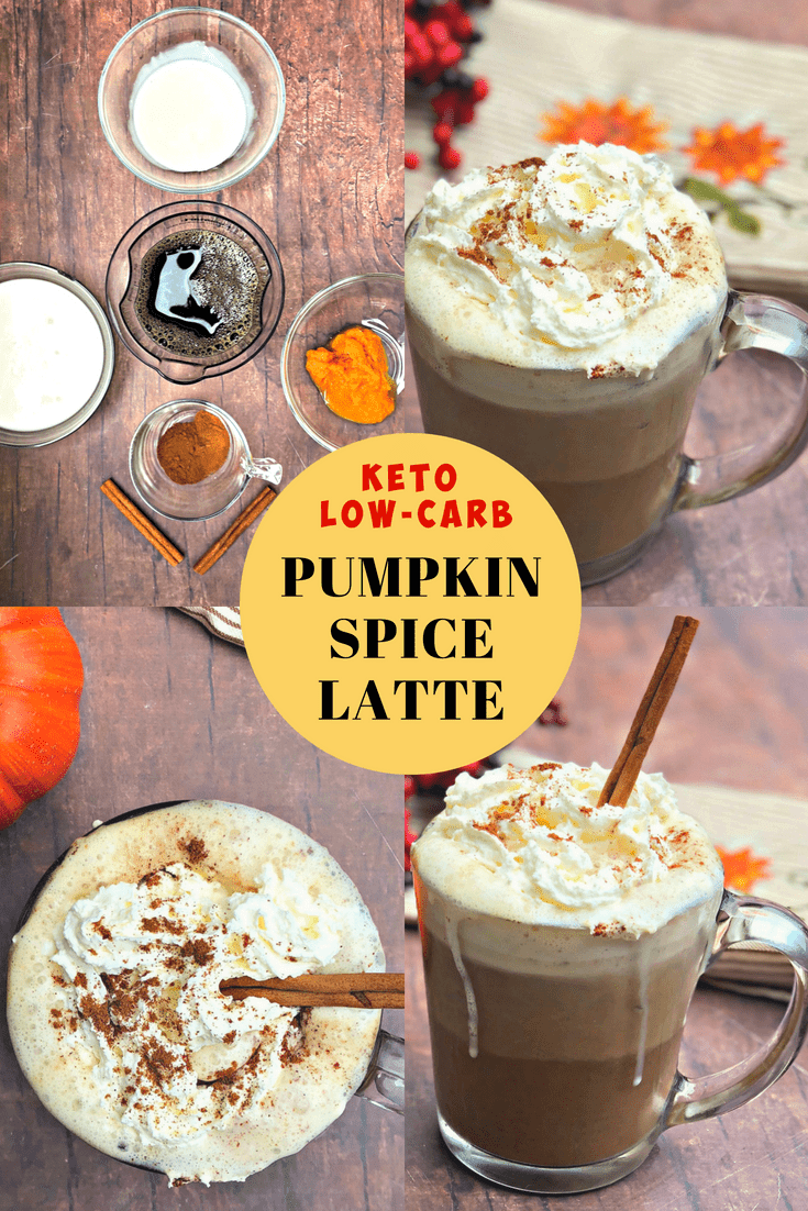 Keto Low-Carb Copycat Starbuck's Pumpkin Spice Latte is a healthy coffee drink recipe perfect for fall. This beverage will remind you of pumpkin pie dessert and is low in sugar! Toss out that creamer for this keto sensation! #Keto #KetoRecipes