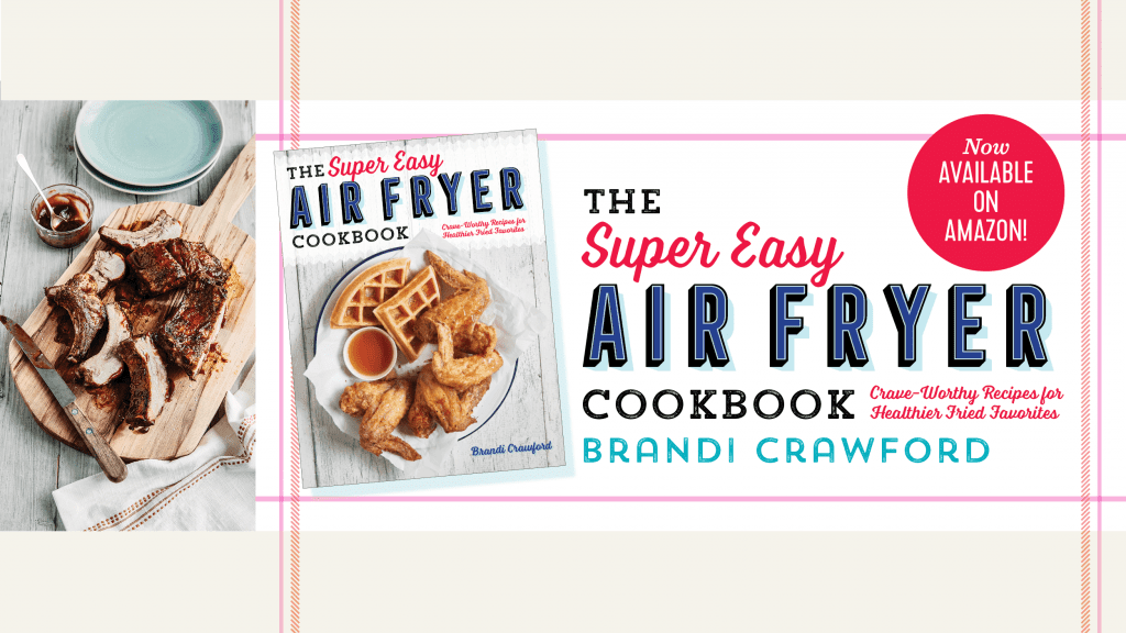 super easy air fryer cookbook banner