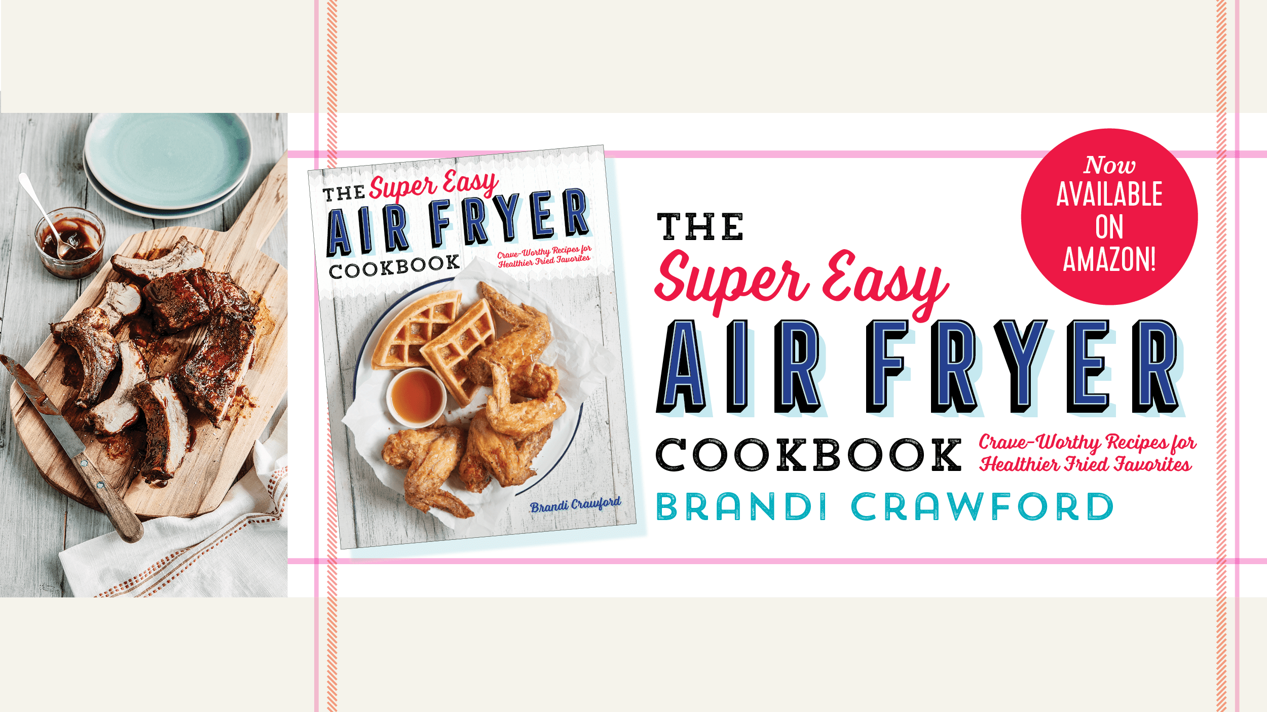super easy air fryer cookbook banner