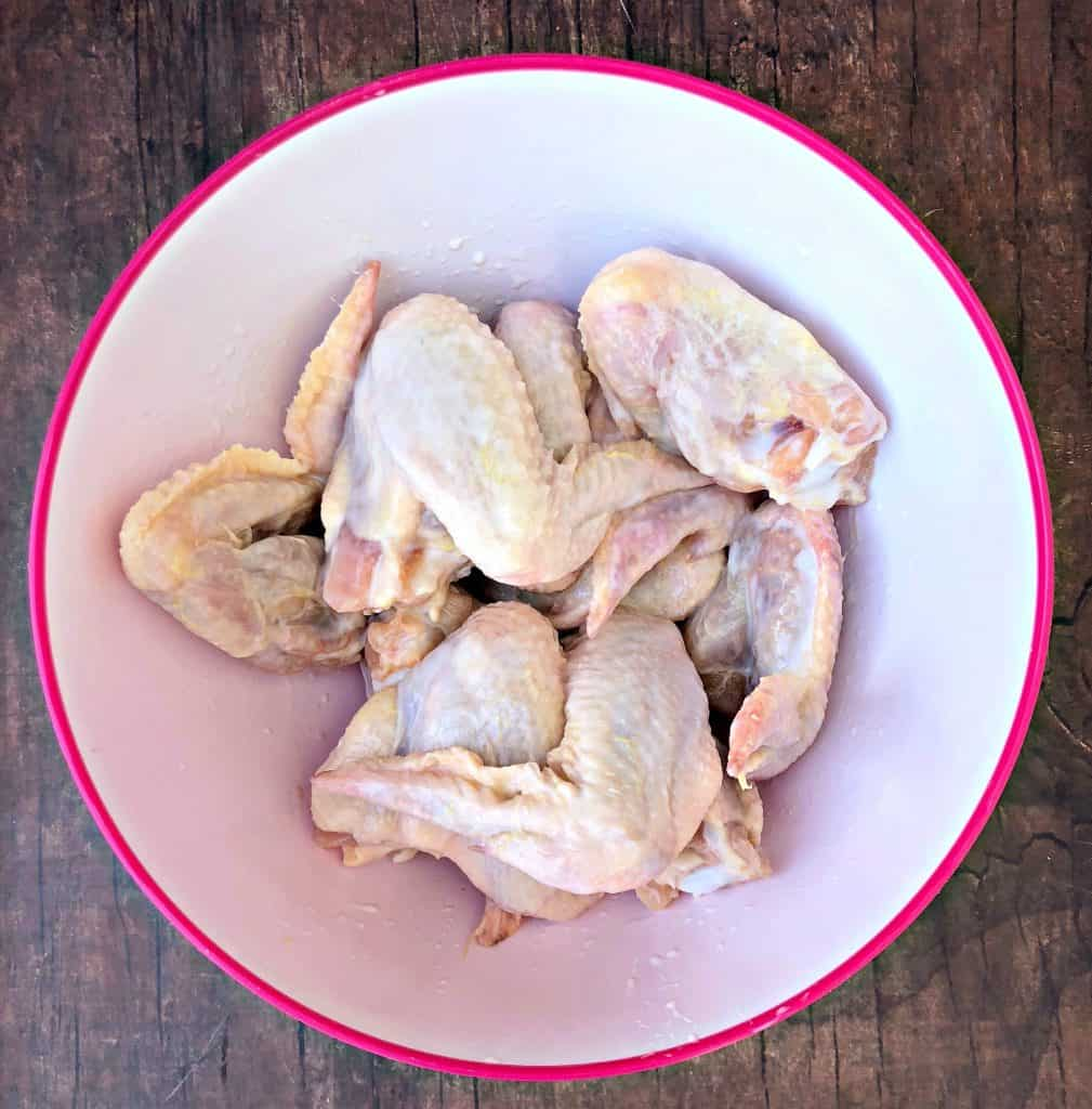 raw chicken wings with buttermilk