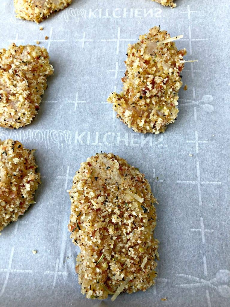 Keto Low Carb Bacon Parmesan Crusted Chicken Nuggets