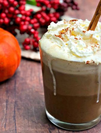 keto pumpkin spiced latte with whipped cream