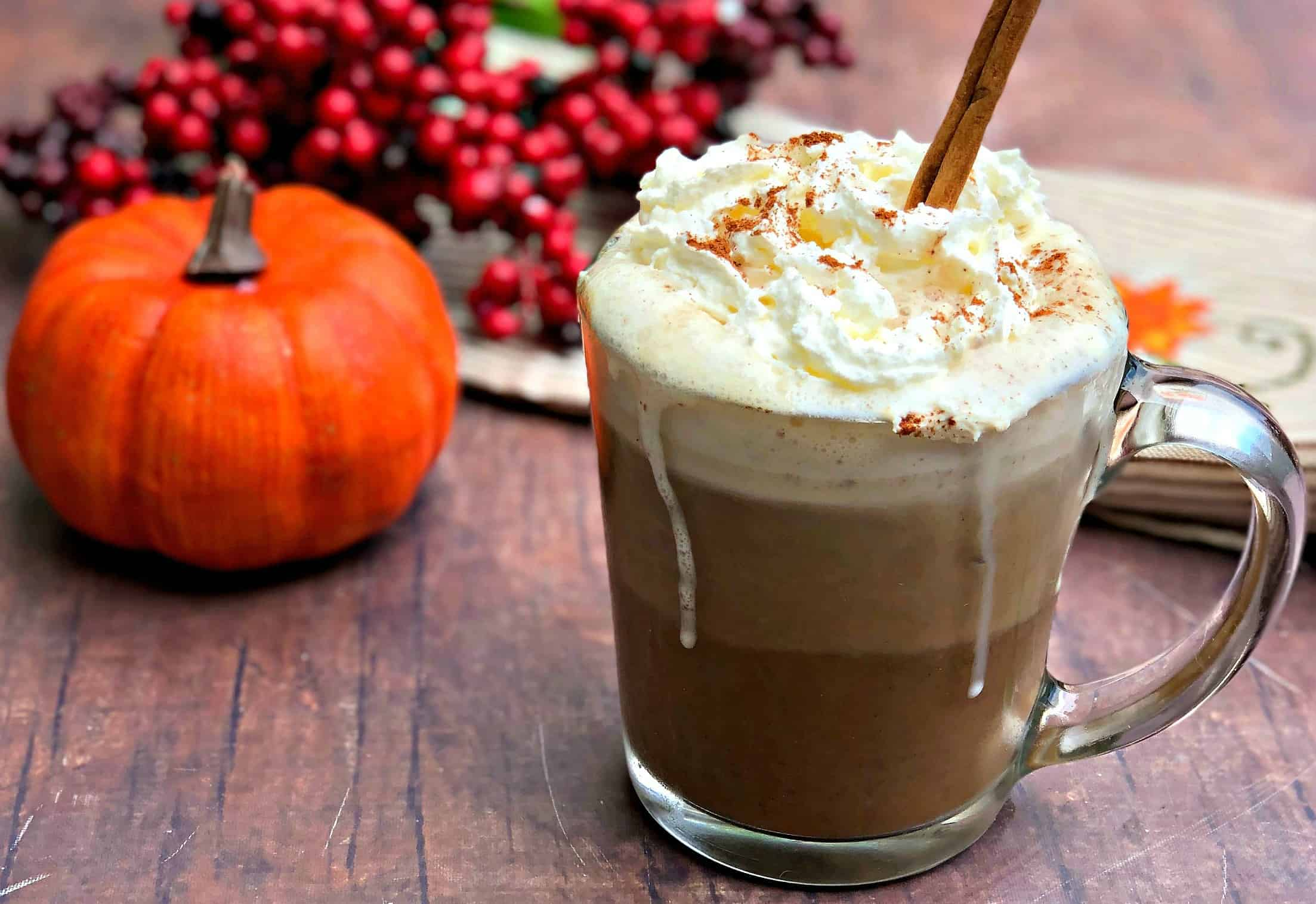 Keto Low Carb Copycat Starbucks Pumpkin Spice Latte