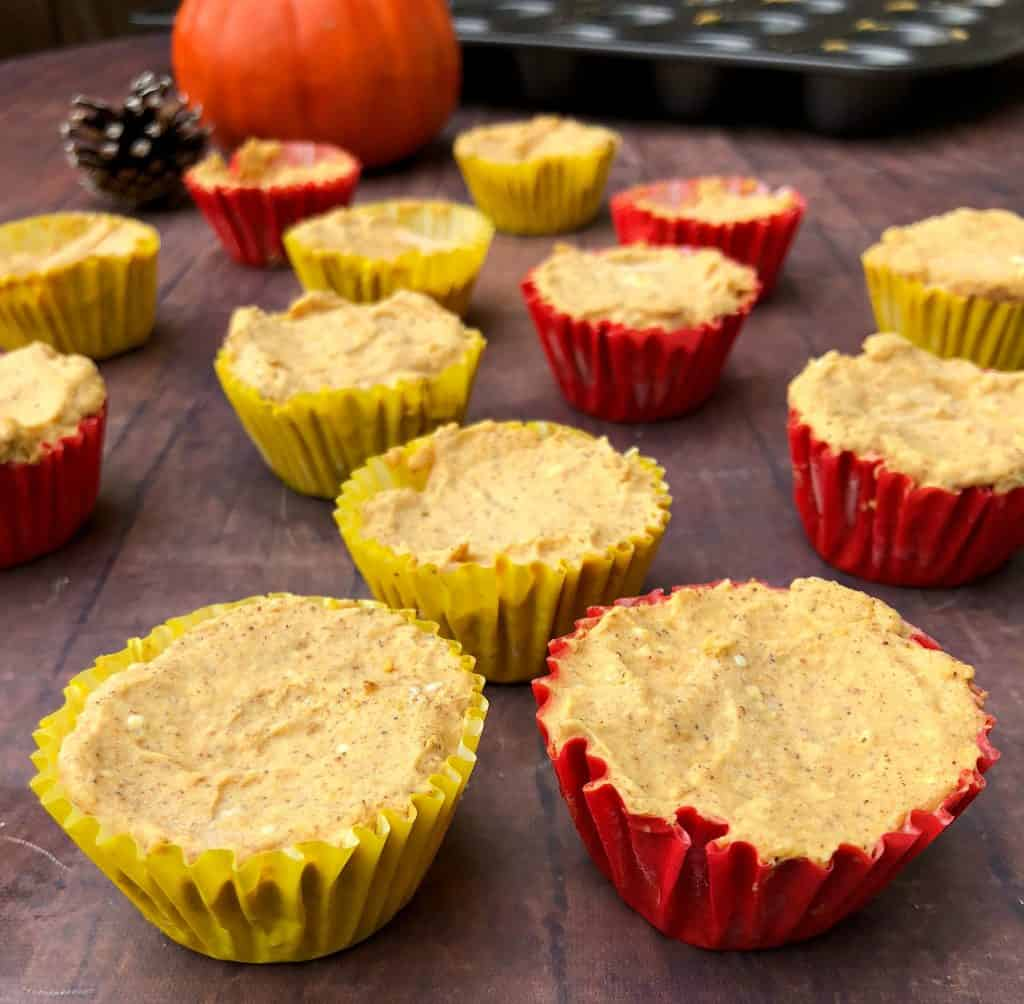 pumpkin spice bombs in yellow and red wrappers