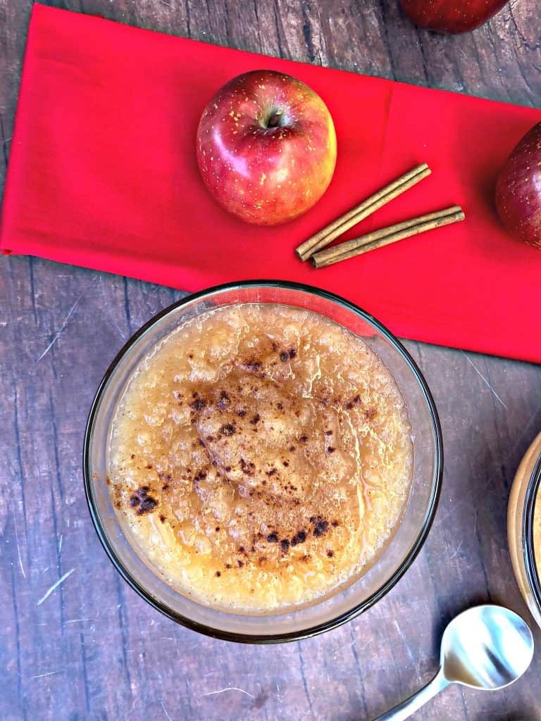 instant pot applesauce with fresh apples and cinnamon