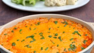 Easy Slow-Cooker Keto Low-Carb Buffalo Chicken Dip + {VIDEO}