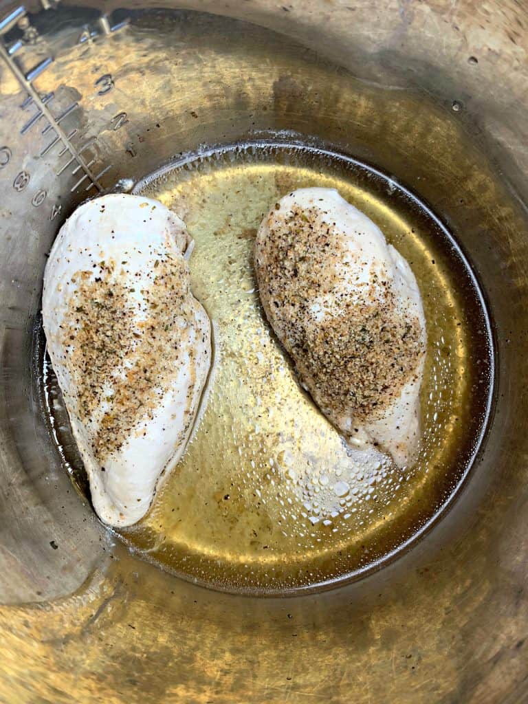 cooked chicken breasts in Instant Pot