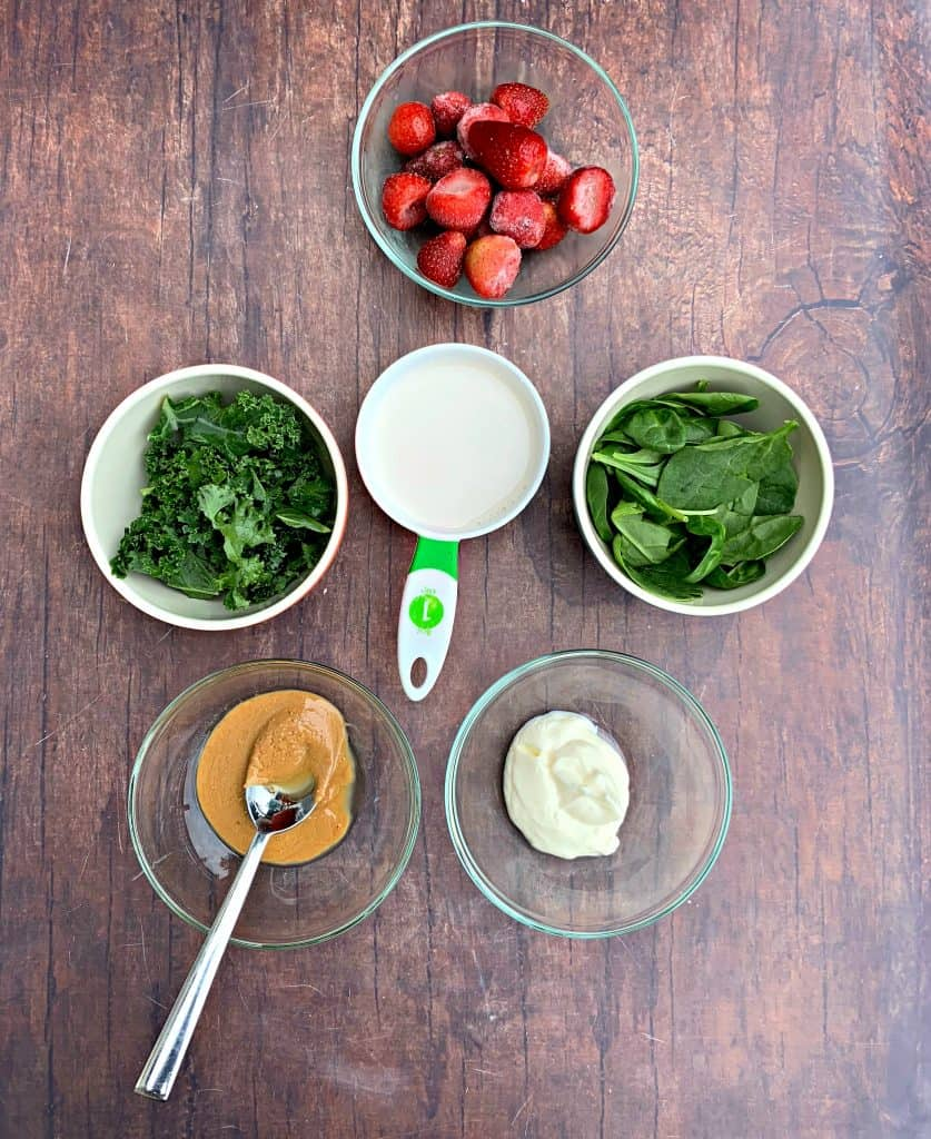 fruit and other ingredients for instant pot blender green smoothie