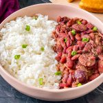Instant Pot red beans and rice in a bowl