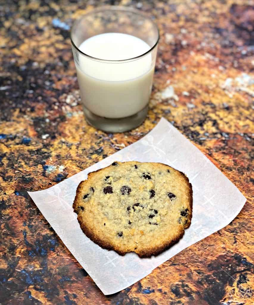keto chocolate chip cookies with milk