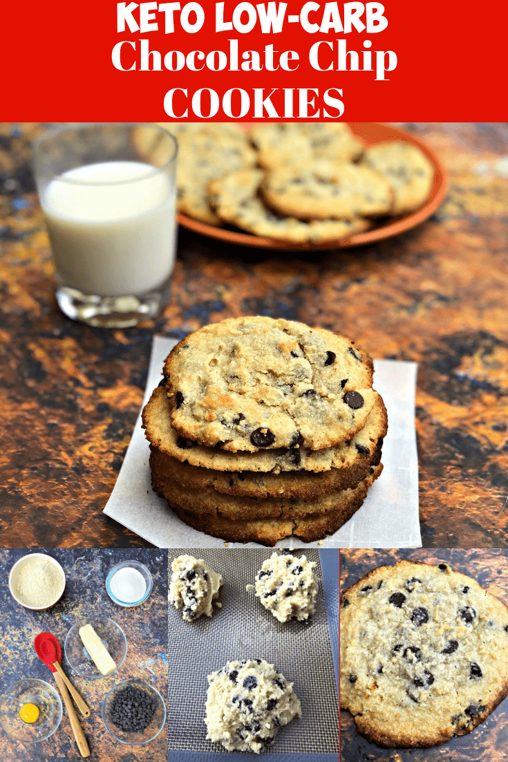 Keto Low-Carb Soft and Chewy Chocolate Chip Cookies is the best quick and easy cookie dough recipe. These cookies are gluten-free and practically zero and no carb with only 1 gram of net carbs! This dessert is perfect for ketosis and the ketogenic diet. #Keto #KetoRecipes #KetoCookies #KetoChocolateChipCookies