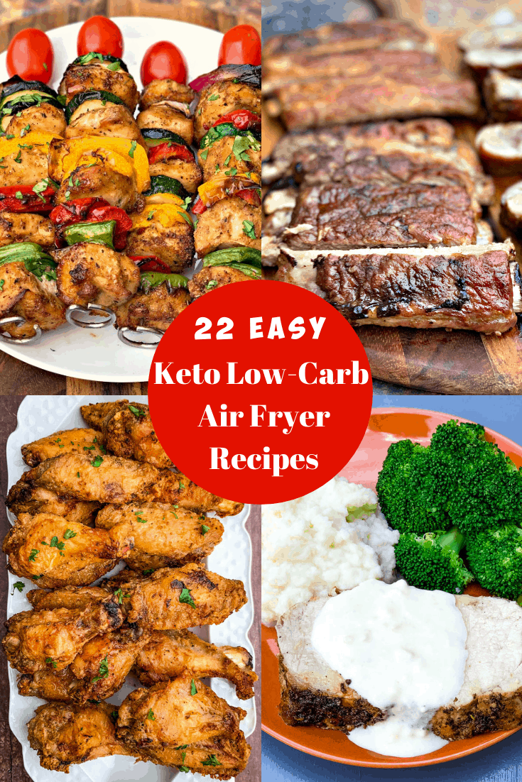 keto low carb air fryer recipes photo collage