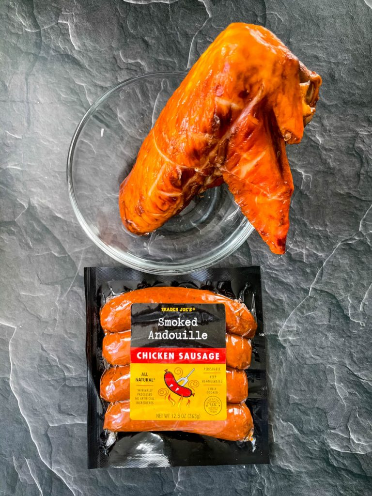 cajun andouille sausage in a package