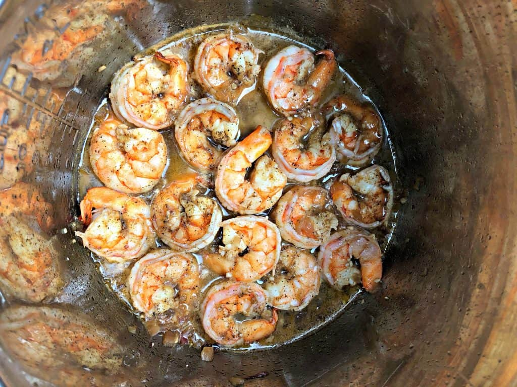 cooked shrimp in an instant pot