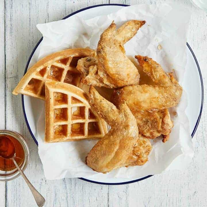 Air Fryer Fried Chicken and Waffles
