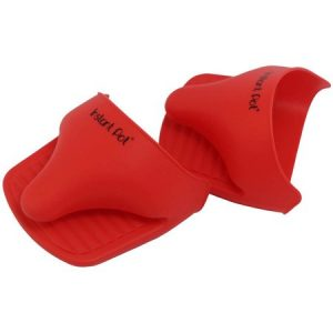 red instant pot cooking mitts