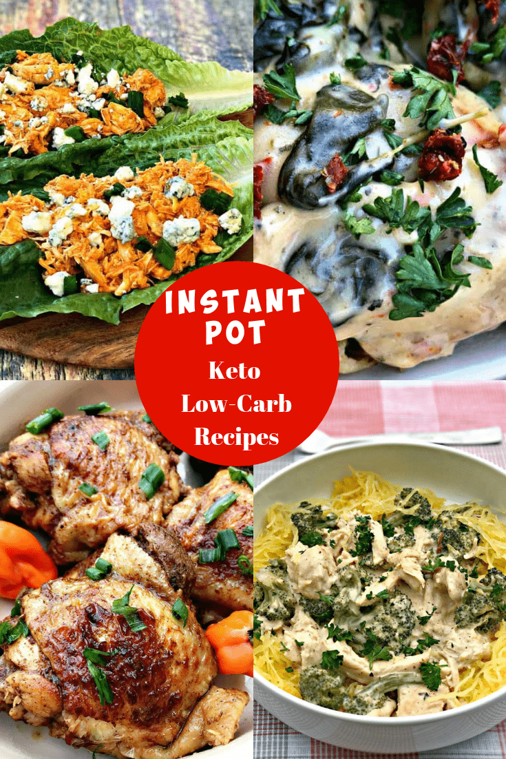 instant pot low carb keto recipes for dinner photo collage