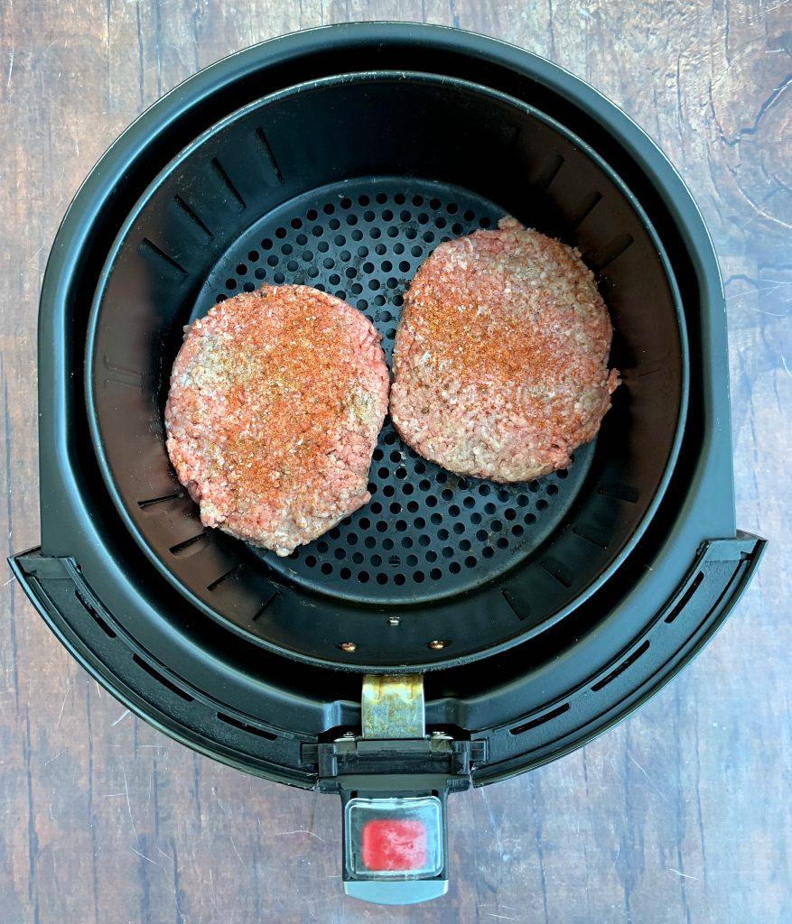 raw burger patties in air fryer