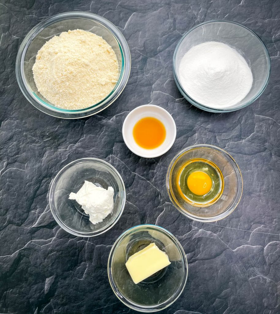 ingredients for keto low carb gluten free sugar cookies