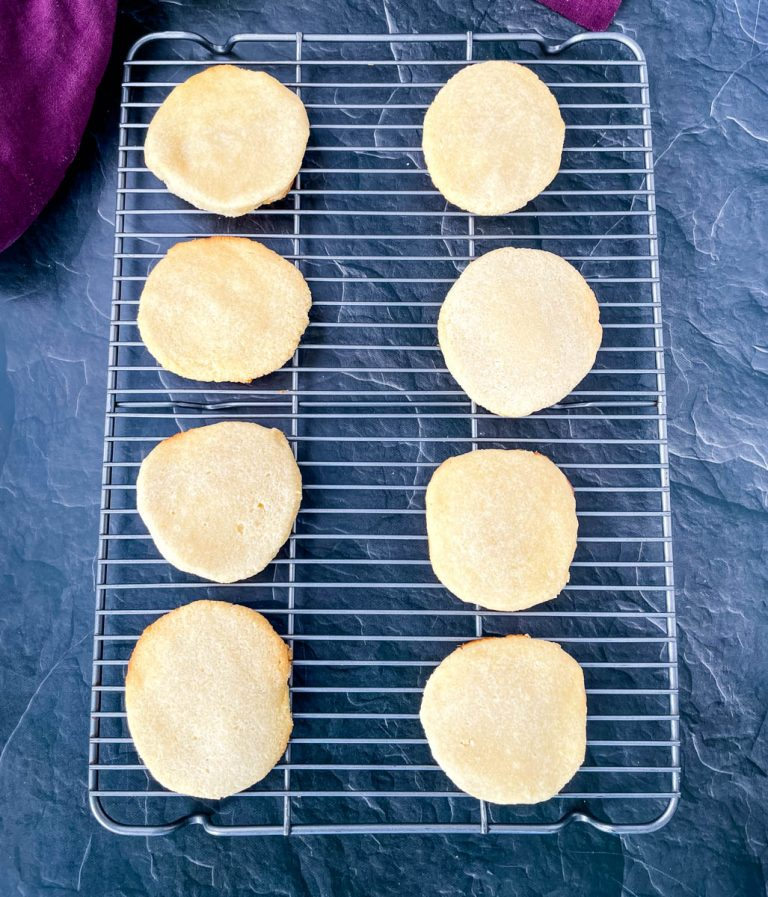 keto low carb gluten free sugar cookies on a plate
