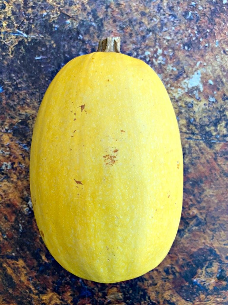 spaghetti squash on a flat surface