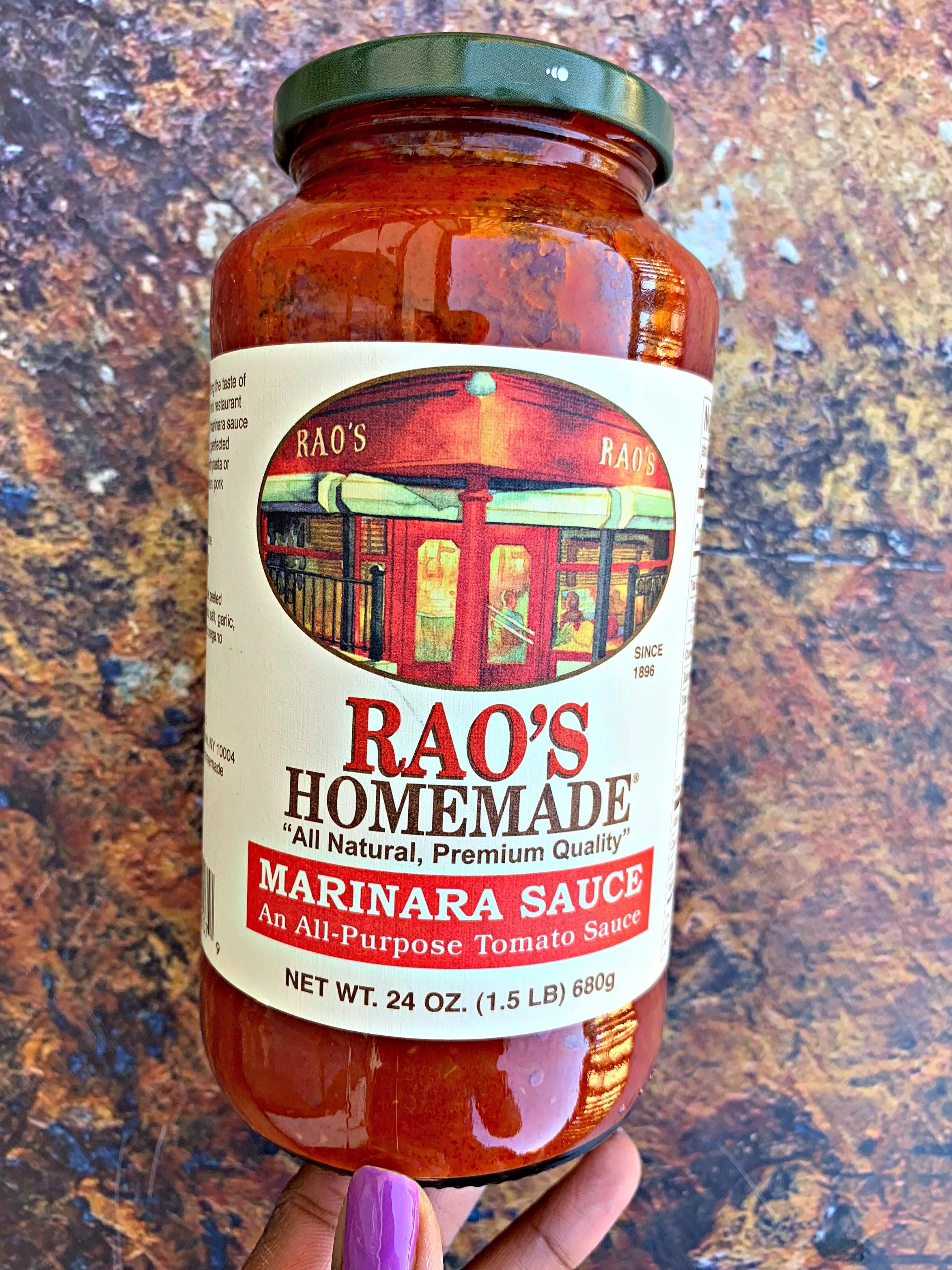 Raos marinara sauce in a jar