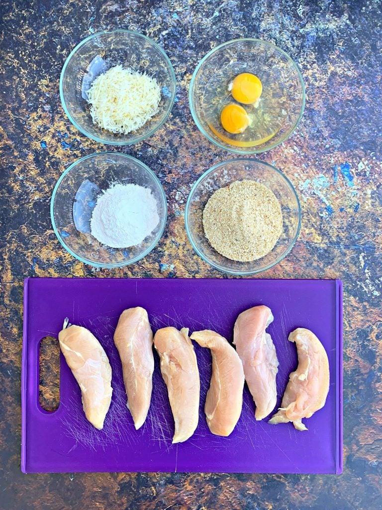 ingredients for air fryer fried chicken tenders