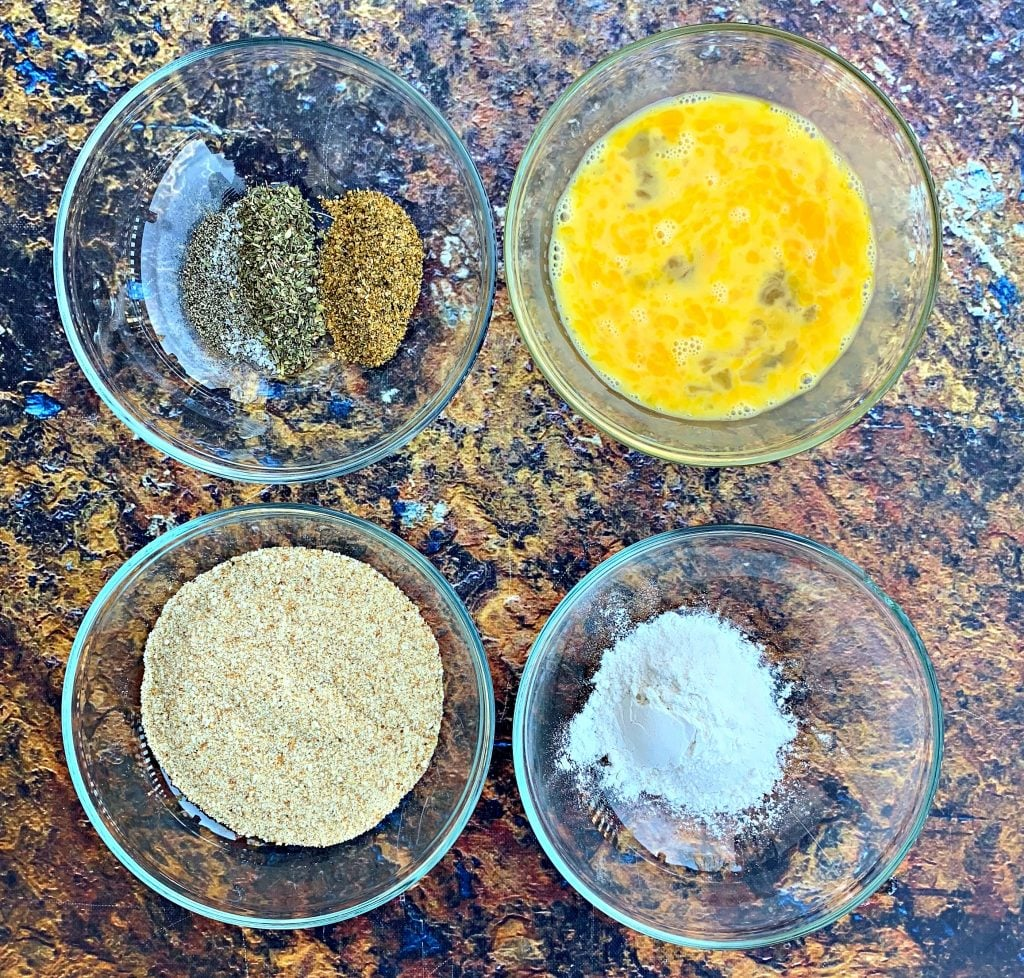 egg flour and seasonings for air fryer chicken nuggets