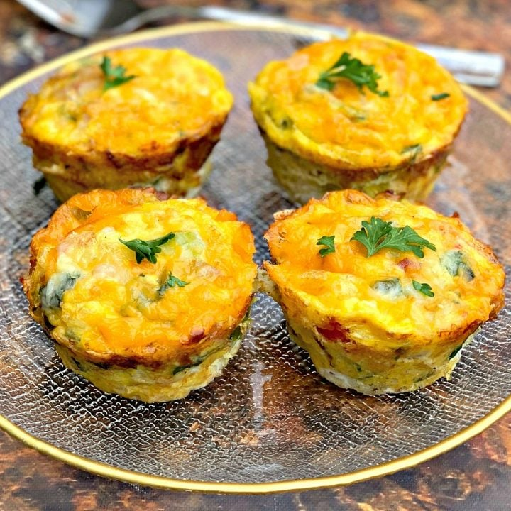 Keto Low Carb Breakfast Bacon And Cheese Egg Muffins Bites Video