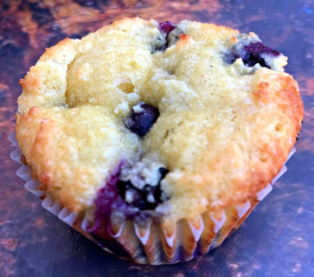 keto blueberry muffins on a flat surface