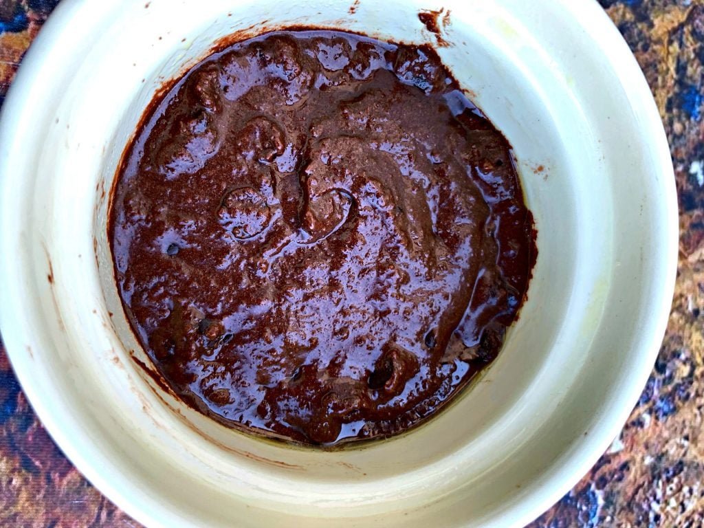 raw keto chocolate mug cake