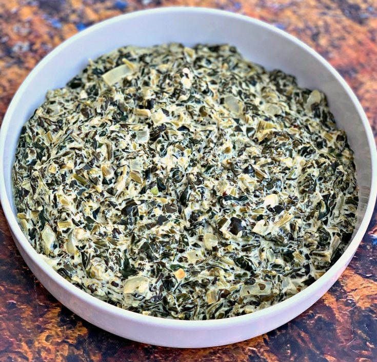 Easy Keto Low-Carb Instant Pot Garlic Creamed Spinach