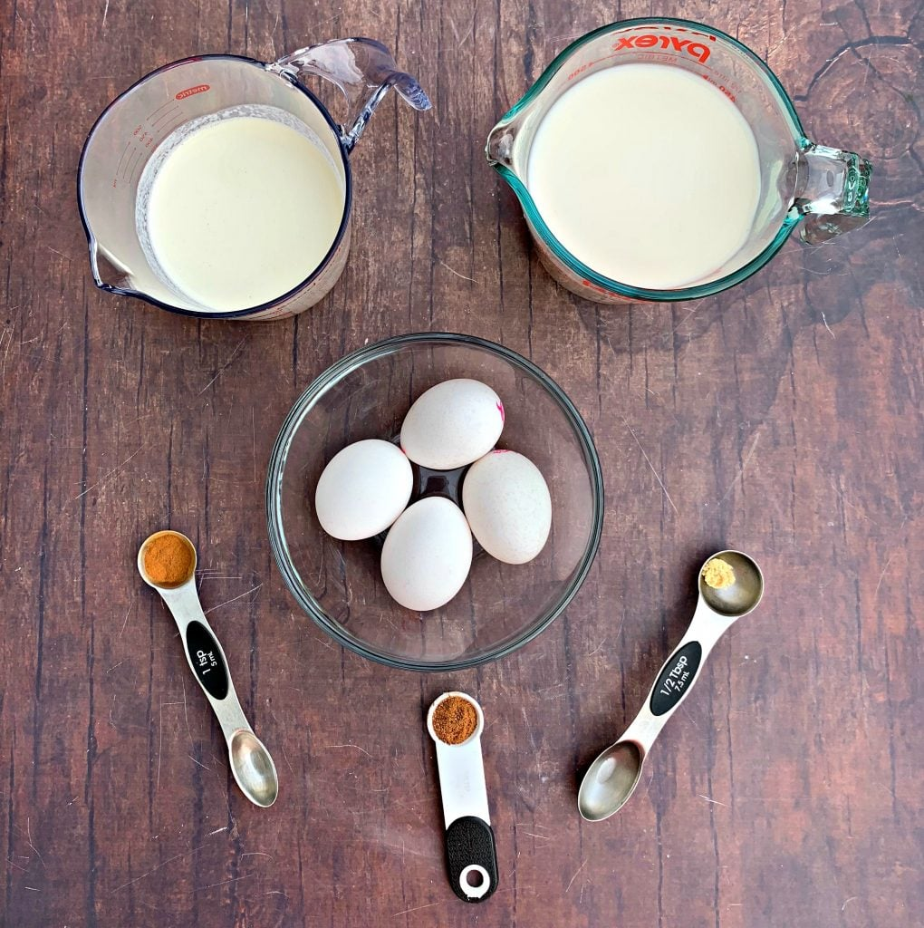 ingredients for keto low carb egg nog