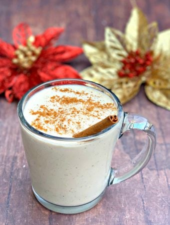 keto low carb egg nog in a mug