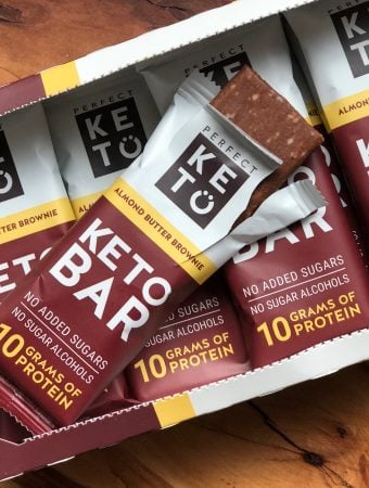 box of perfect keto keto bars