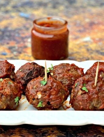 Easy Keto Low-Carb Air Fryer BBQ Beef Meatballs