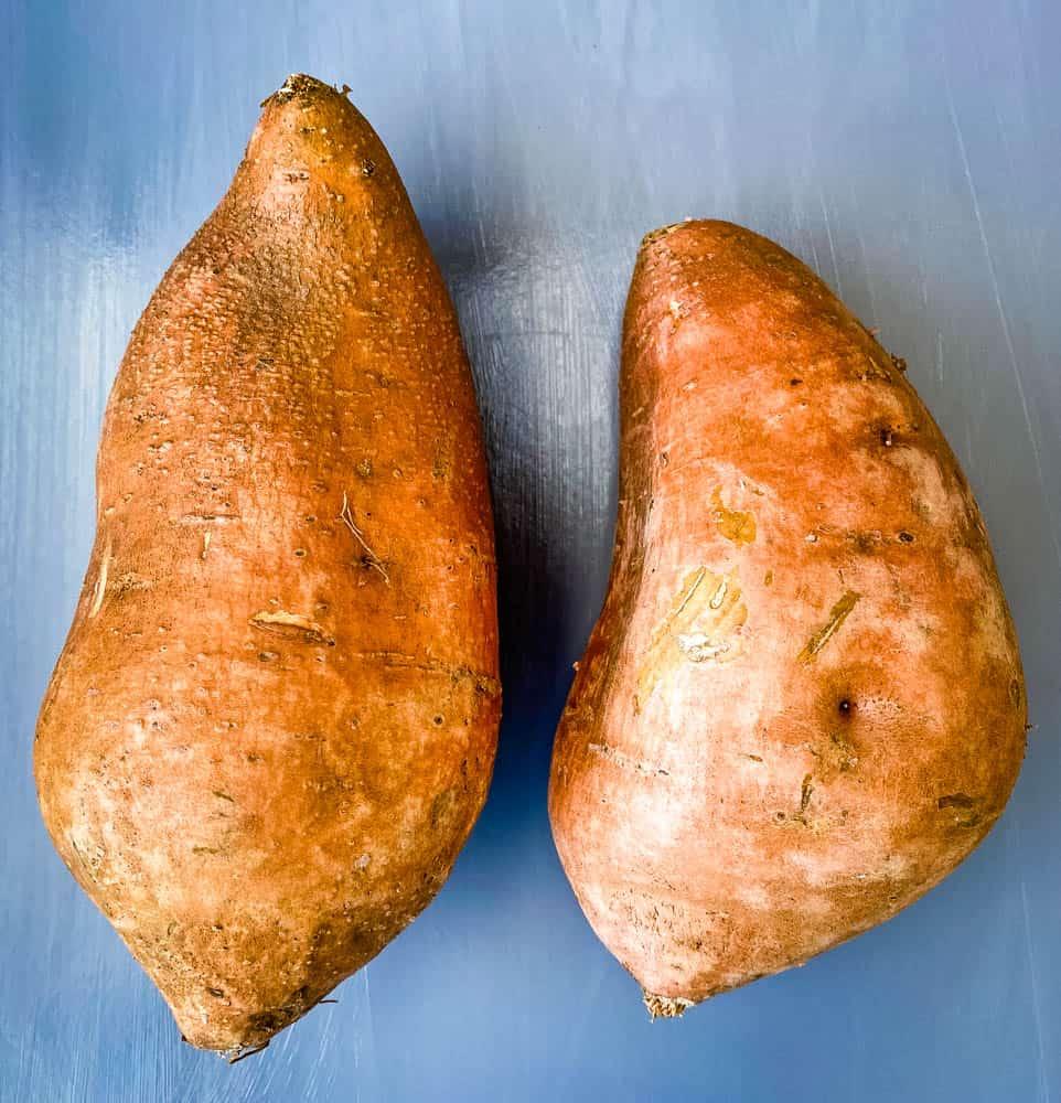 raw sweet potato on a flat surface