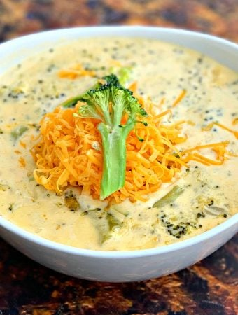 Easy Keto Low-Carb Instant Pot Panera Broccoli Cheddar Cheese Soup