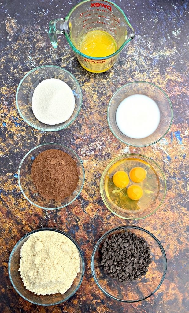 ingredients in keto low carb chocolate muffins