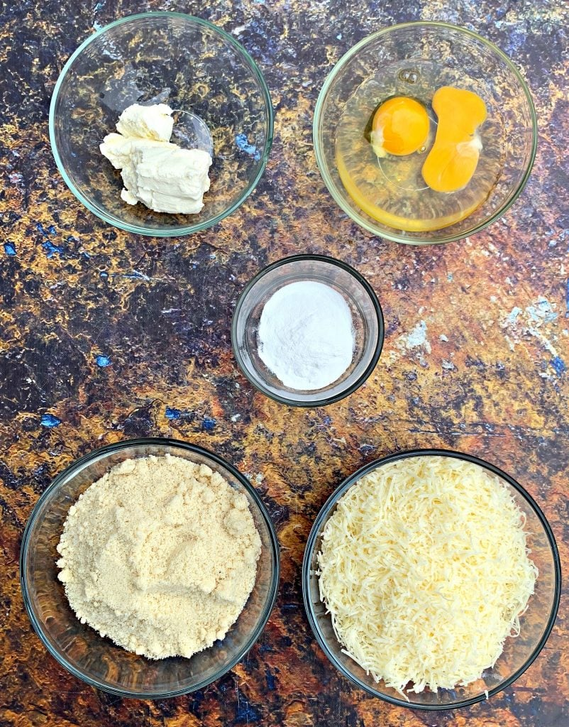 ingredients for cooked keto fathead bagels
